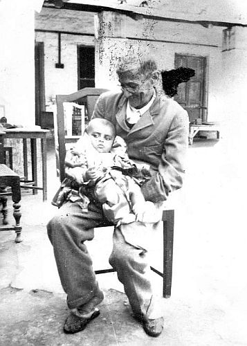 Baby Pulok with grandfather dadaji