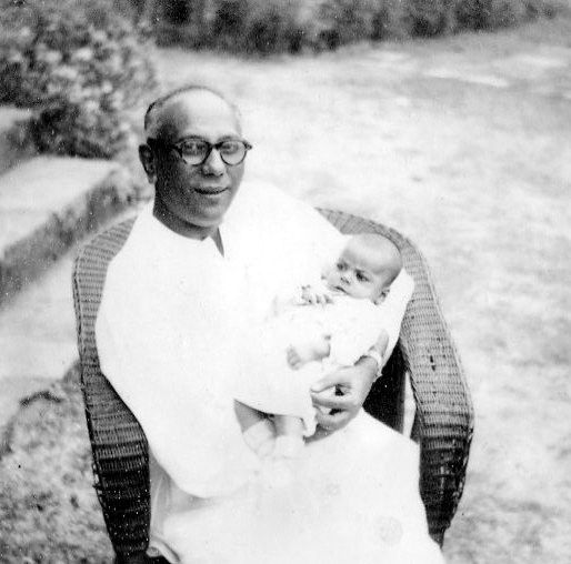 Baby Pulok with H P Banerjee nanaji