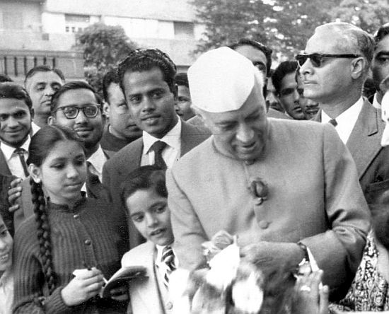 Jaya with Nehru