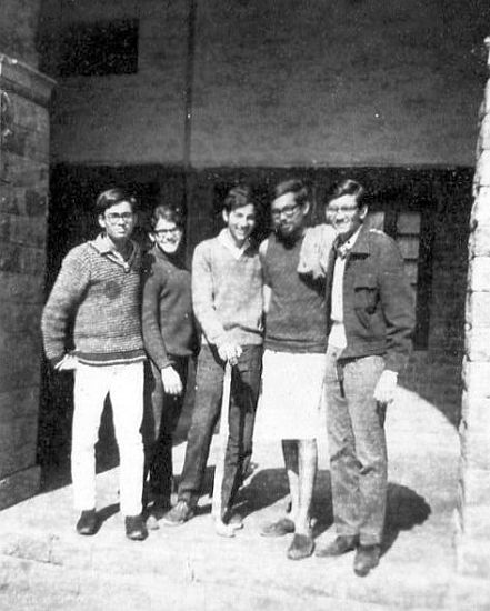 Pulok and college friends 1969