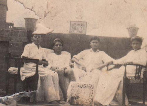 From left to right: friends Rameshwar, Charanjeev Shastry, Yashpal and friend Nand Kishore just before partition of India.