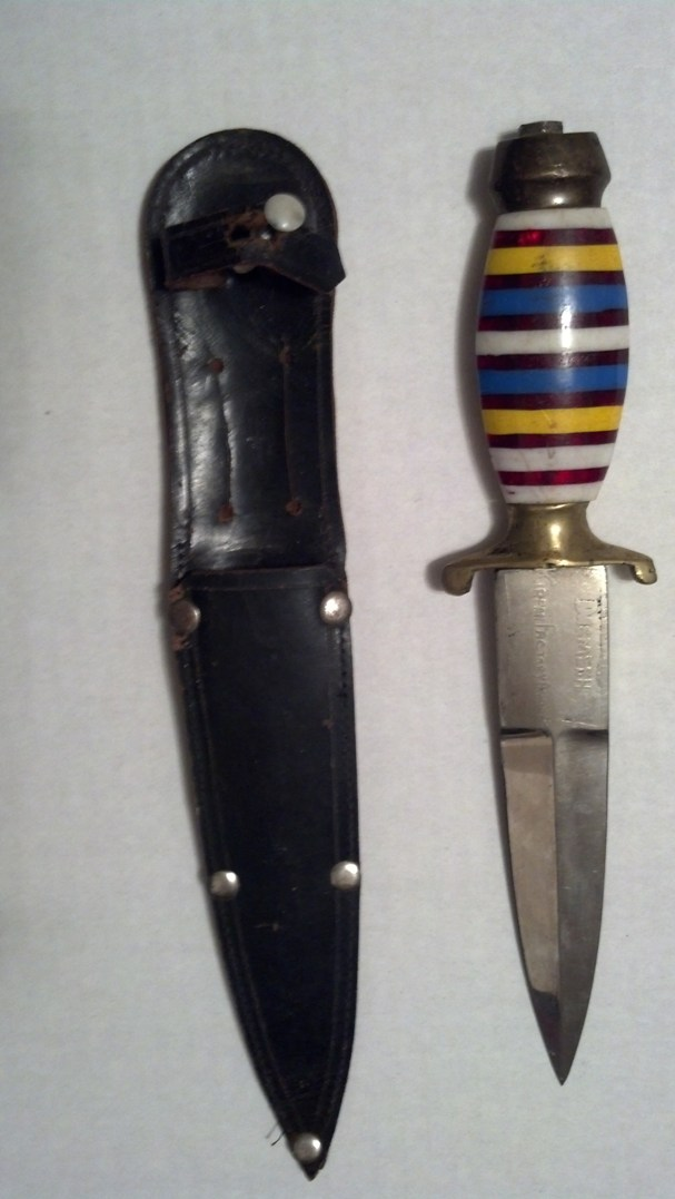 """The dagger"" – bought 1959, ""lost"" 1959, found 1968, in night table 2014"