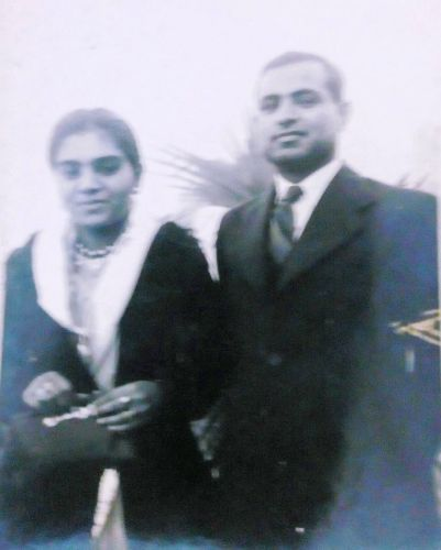 Savitri Kathuria and her husband