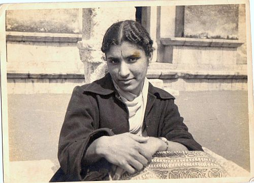 Uma, at Hauz Khas, New Delhi circa 1957