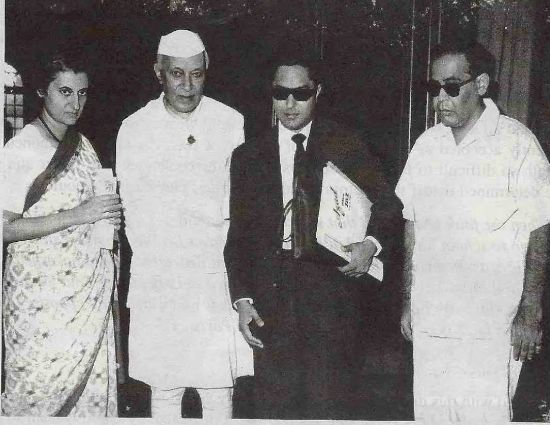 With Nehru