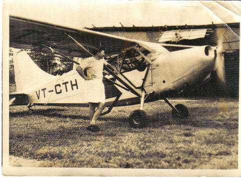 Aircraft on loan from Lucknow Flying Club