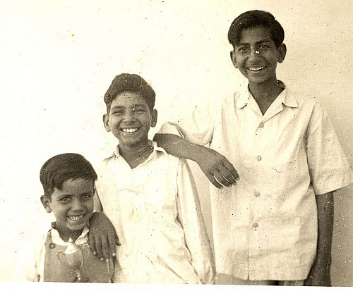 L to R: Ashok (brother), Juginder, Krishan (brother). About 1954.