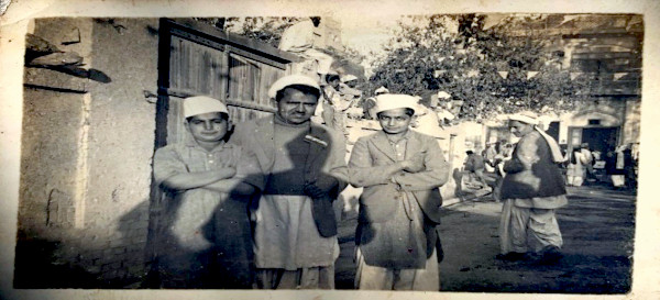 My father on extreme right in Bannu. No other information available.