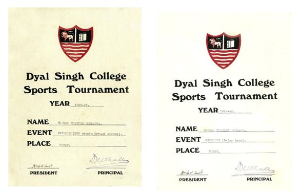 College certificates for Romesh and Somesh