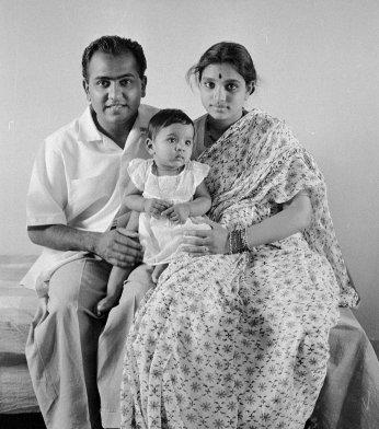 T.S. Nagarajan and Meenakshi with daughter Kalyani 1959.