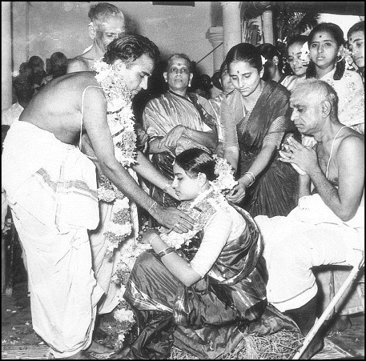 Wedding ceremony of T.S. Nagarajan and Meenakshi, 1958