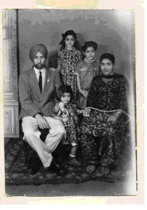 Captain Gurdial Singh with family.