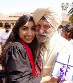 Valarie and Papaji, College Graduation, Stanford University, 2003.