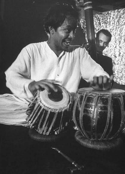 Pandit Chatur Lal playing the tabla