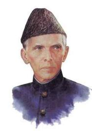 Jinnah in sherwani and Jinnah cap