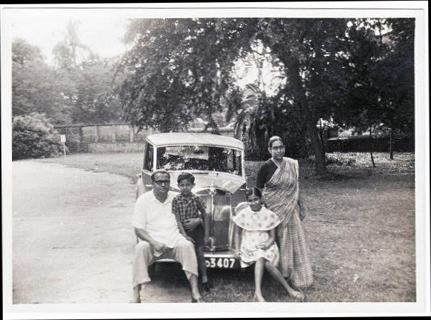 Amal Shah with family and car
