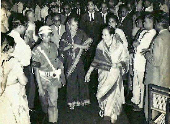 Walking with PM Gandhi