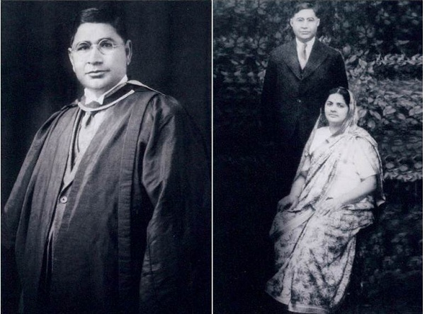 Professor C.L. Anand, Barrister-at-law, with his wife Santosh, nee Bhandari