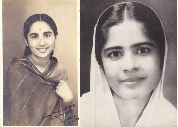 Indira Anand 1948\; her elder sister Nirmal Anand early 1940s, who also worked in the refugee camps and remained a devout social worker all her life.
