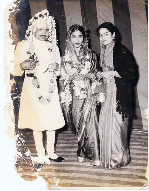 Just after our wedding, with Kamla (right), her friend who introduced her to me, 1958
